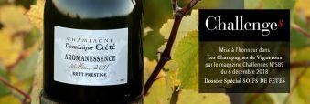 La Cuvée Aromanessence sélectionnée par le Magazine Challenges