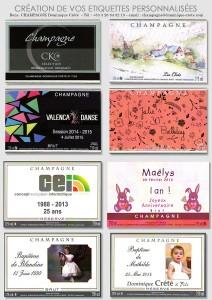 Vos étiquettes personnalisées pour un anniversaire