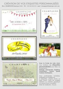 Vos étiquettes personnalisées pour un mariage