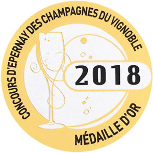 Médaille d'Or Concours d'Epernay 2018