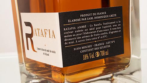 Ratafia Tradition Ambré - Champagne Dominique Crété